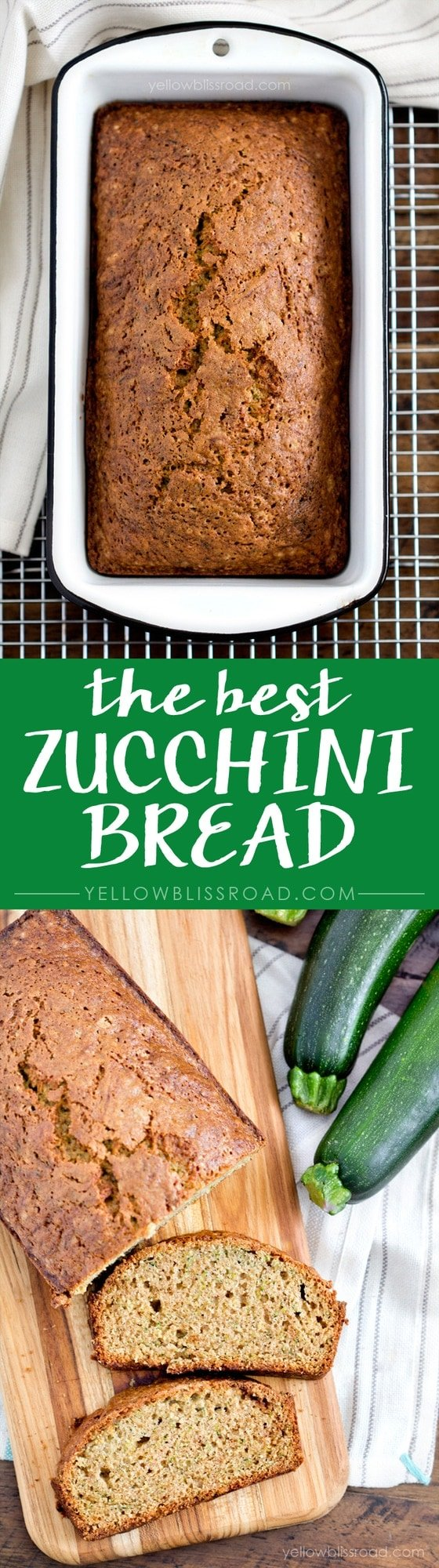 Zucchini Bread recipe collage