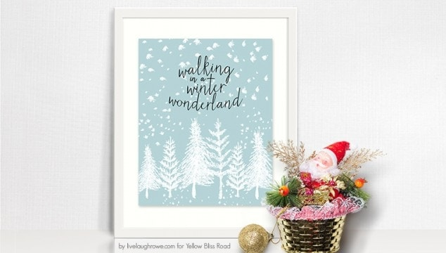 Winter Wonderland Free Printable