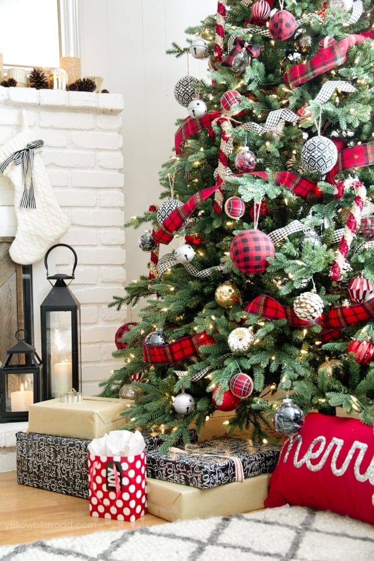 Classic Reds and Rustic Plaids Christmas Home Tour 2015 | Christmas Decor |Christmas Tree