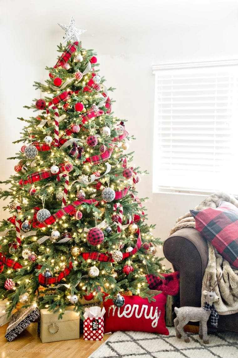 Classic Reds and Rustic Plaids Christmas Home Tour 2015 | Christmas Decor | Christmas Tree