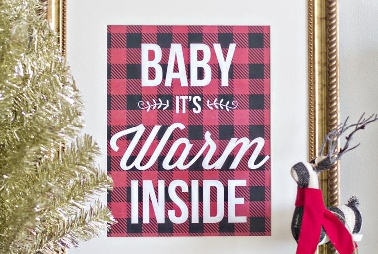 Buffalo Check Christmas Printable (West Elm Knock-Off)