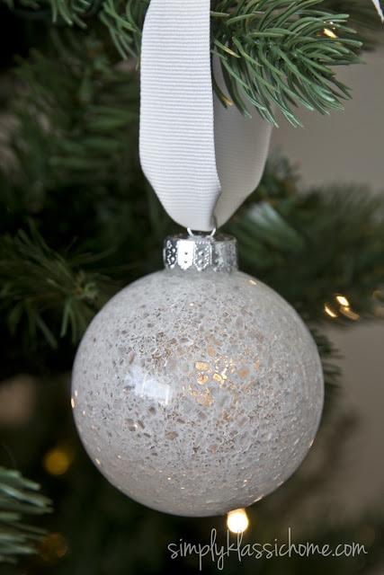 A close up of a Christmas ornament