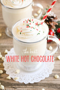 A cup of White Hot chocolate