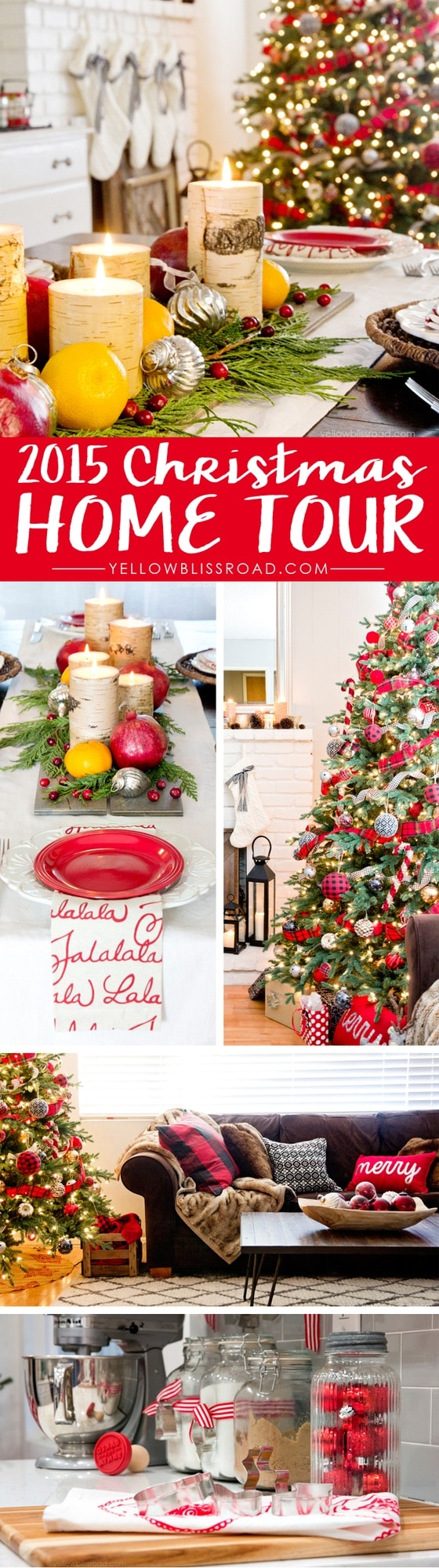 2015 Christmas Home Tour with Classis Reds and Rustic Plaids
