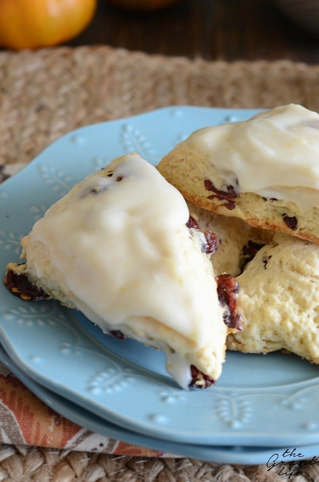 Cranberry Orange Scones - a perfect holiday breakfast or brunch recipe!