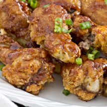 Crispy Baked Barbecue Chicken Wings