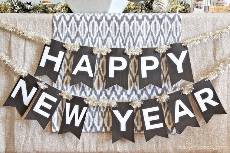 Unusual image regarding happy new year printable