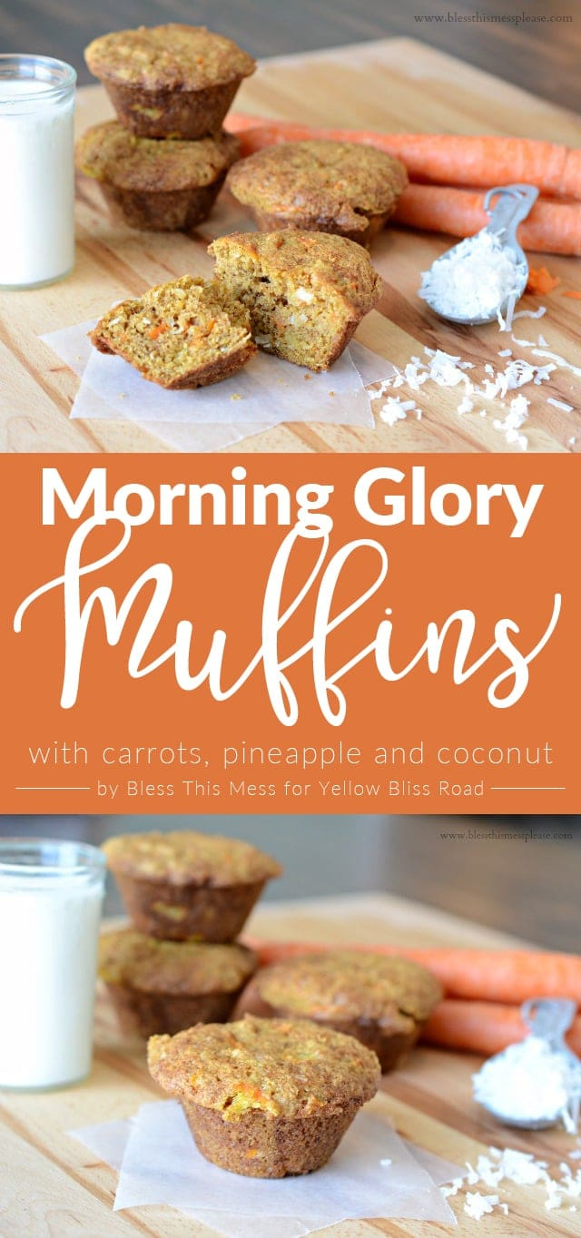 Morning Glory Muffins with Carrot, Coconut and Pineapple