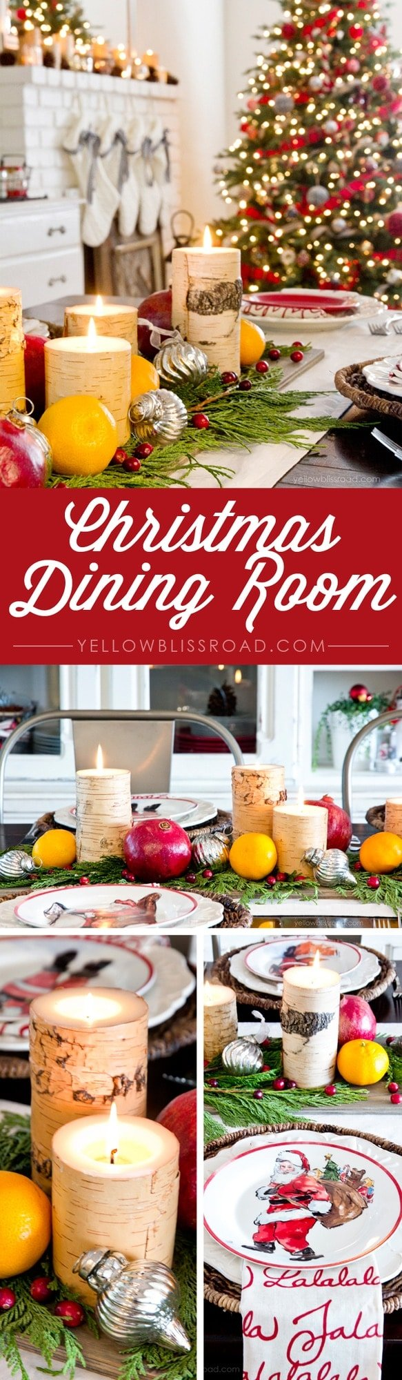 Rustic and Fresh Christmas Dining Room Decor