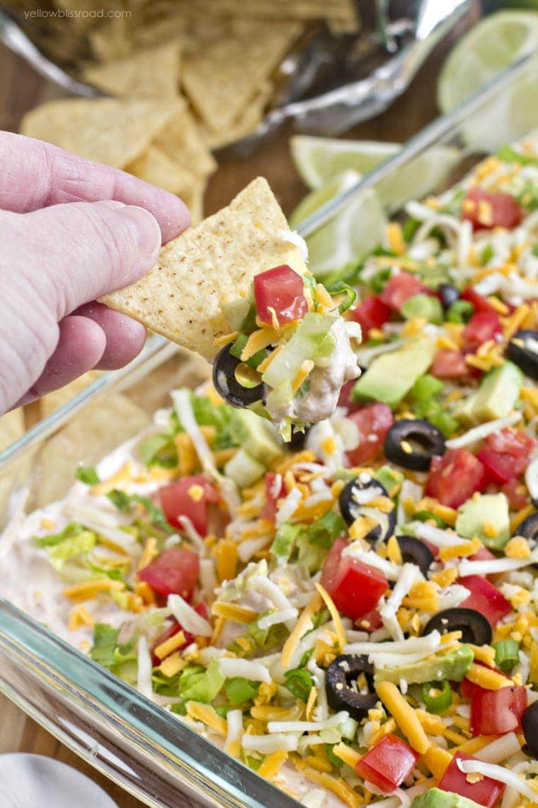 Skinny Taco Dip {Yellow Bliss Road}