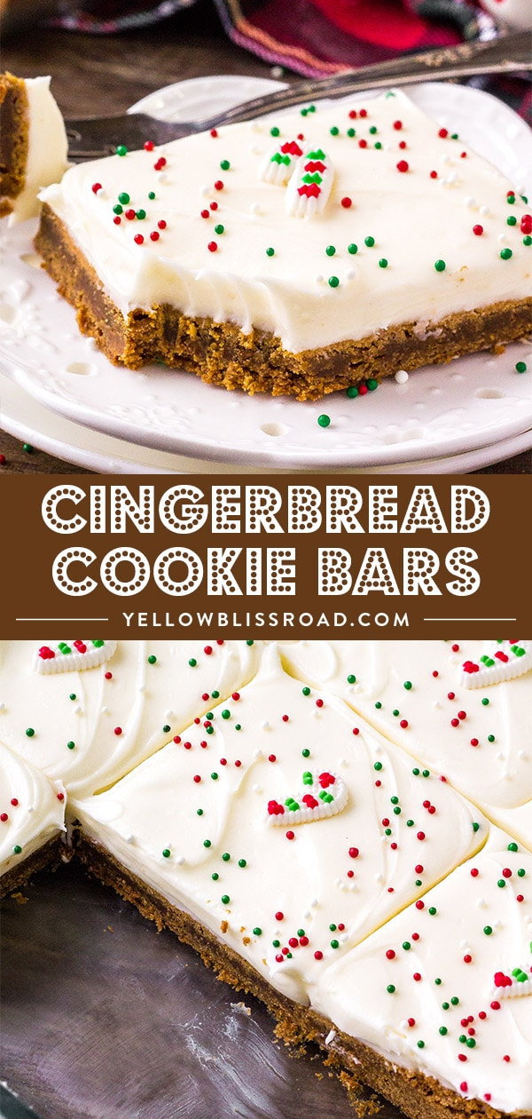Spiced Gingerbread Cookie Bars collage