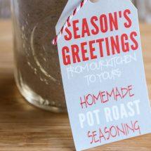 Homemade Pot Roast Seasoning Gift Idea with Free Printables