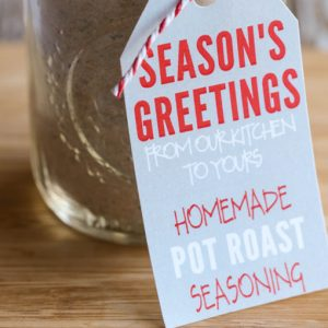 Homemade Pot Roast Seasoning Gift Idea with Free Printables