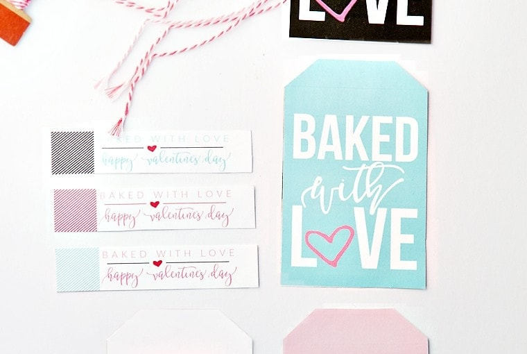 "Printable ""Baked with Love"" Valentines"