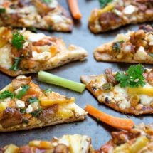 Pineapple Buffalo Chicken Flatbread