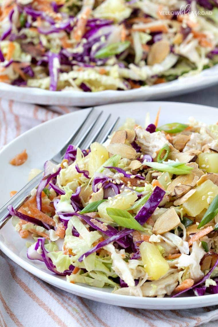 Crunchy Tropical Chicken Slaw