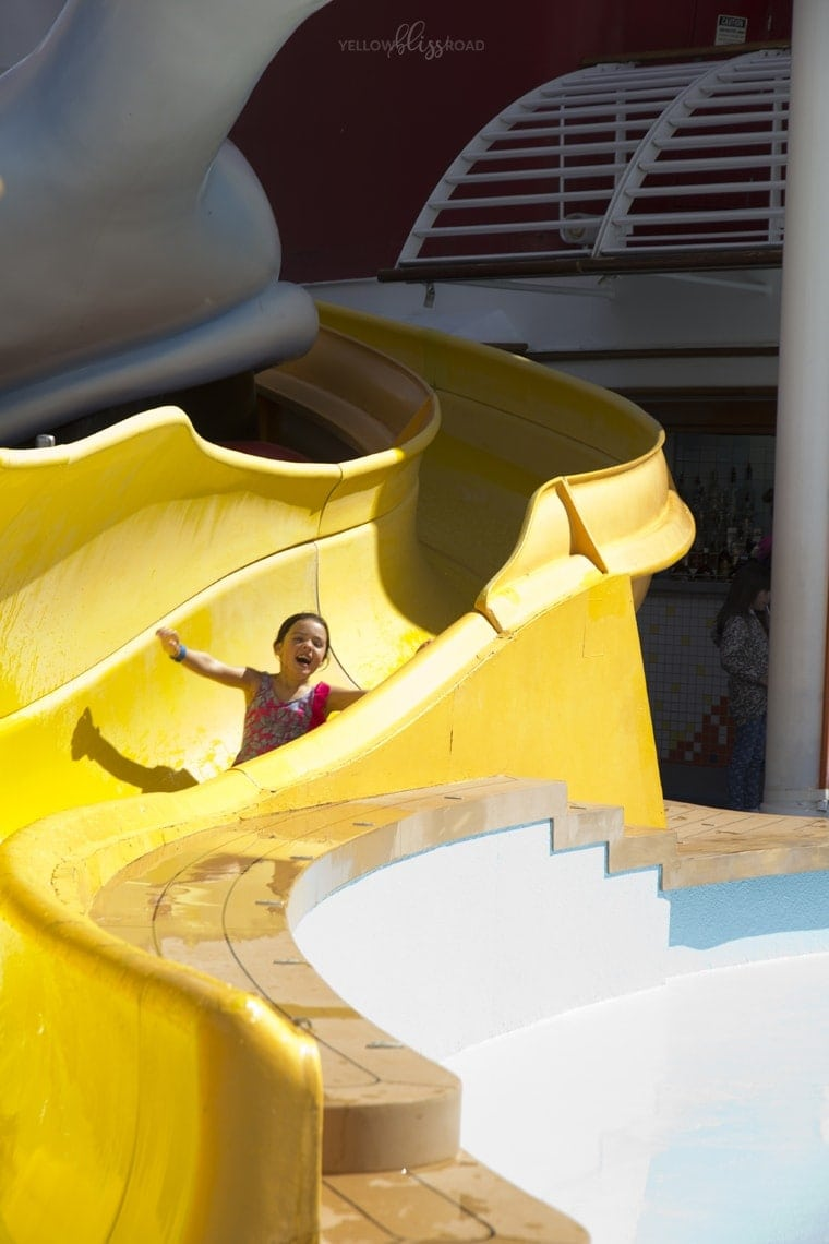 Disney Cruise Line Pool and waterslide