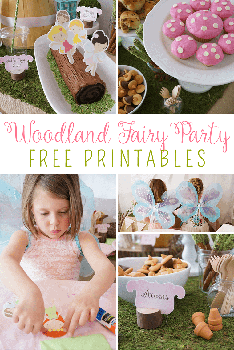Woodland Fairy Party - Free Printable
