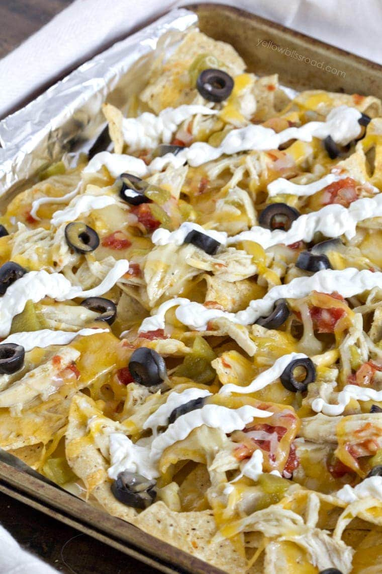 Green Chile Chicken Enchilada Nachos 2