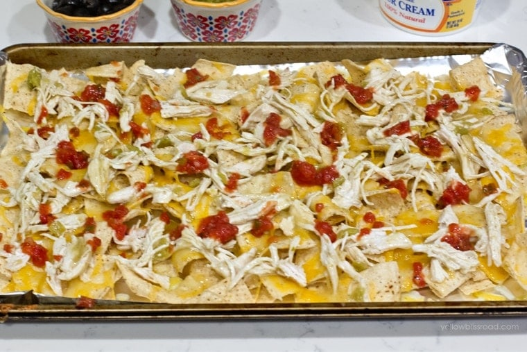 Green Chile Chicken Nachos 4