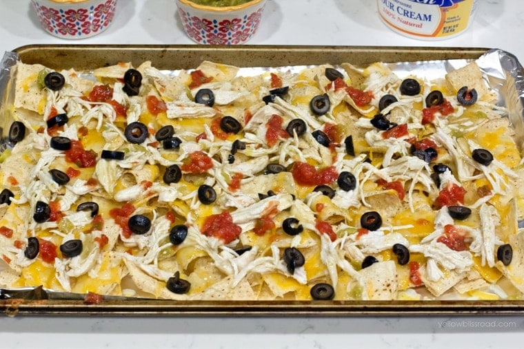 Green Chile Chicken Nachos 5