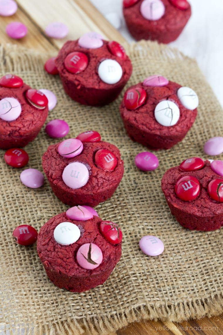 Red Velvet Cream Cheese Brownie Bites - Perfect for Valentine's Day!