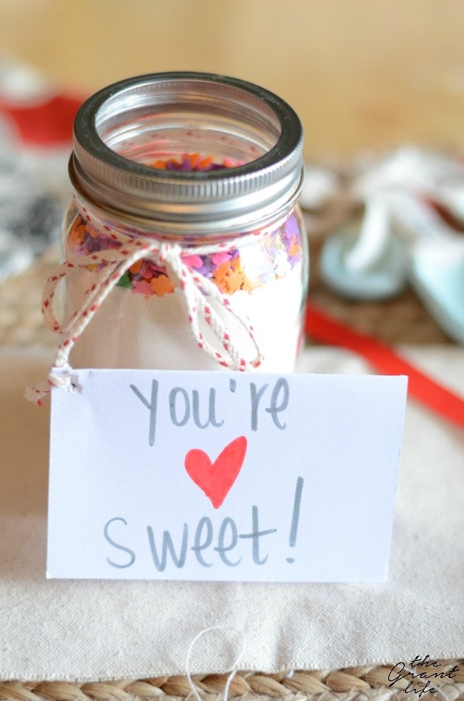 Valentine sugar cookie mix gift idea