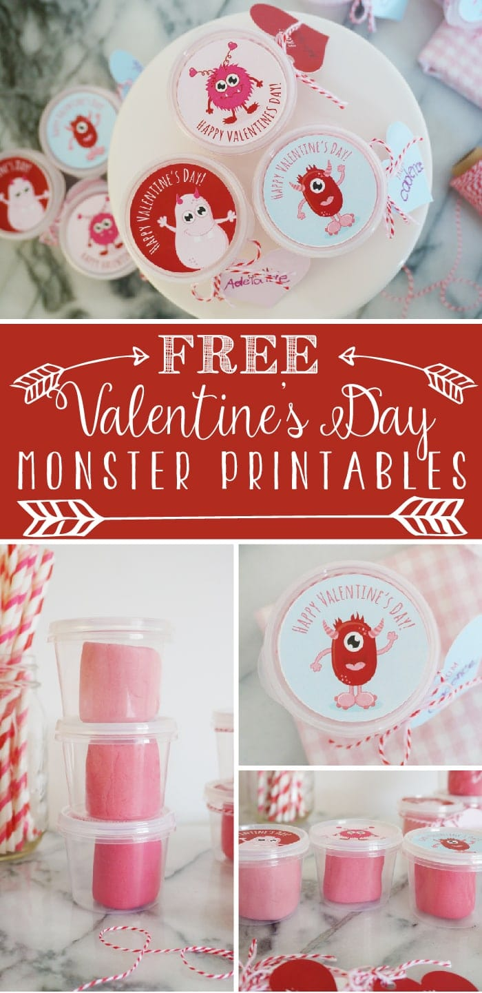 photo regarding Play Dough Valentine Printable titled Do-it-yourself Playdough Valentine with totally free printable - Yellow Bliss Street