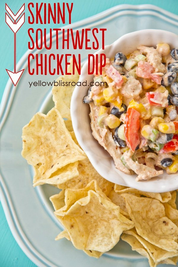 Skinny Southwest Chicken Appetizer recipe - Greek Yogurt makes this recipe just as healthy as it is delicious!