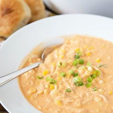 A bowl of Corn Chowder