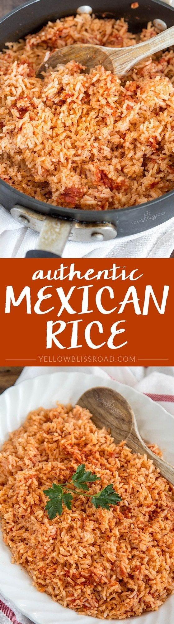 Authentic Mexican Rice Recipe Yellowblissroad Com