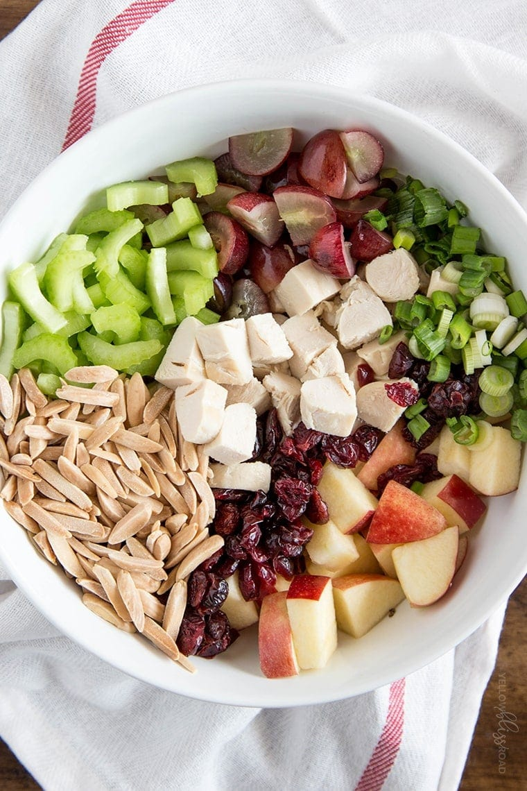 Chicken Apple Grape Salad with Almonds
