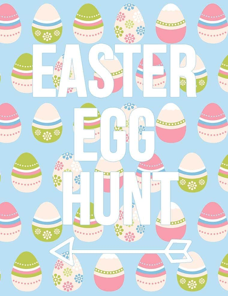 Easter Egg Hunt Free Printable