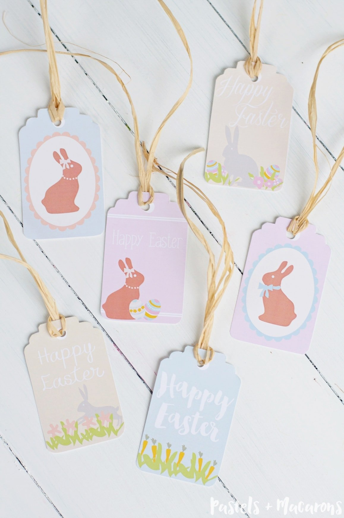 This is an image of Slobbery Printable Easter Tag