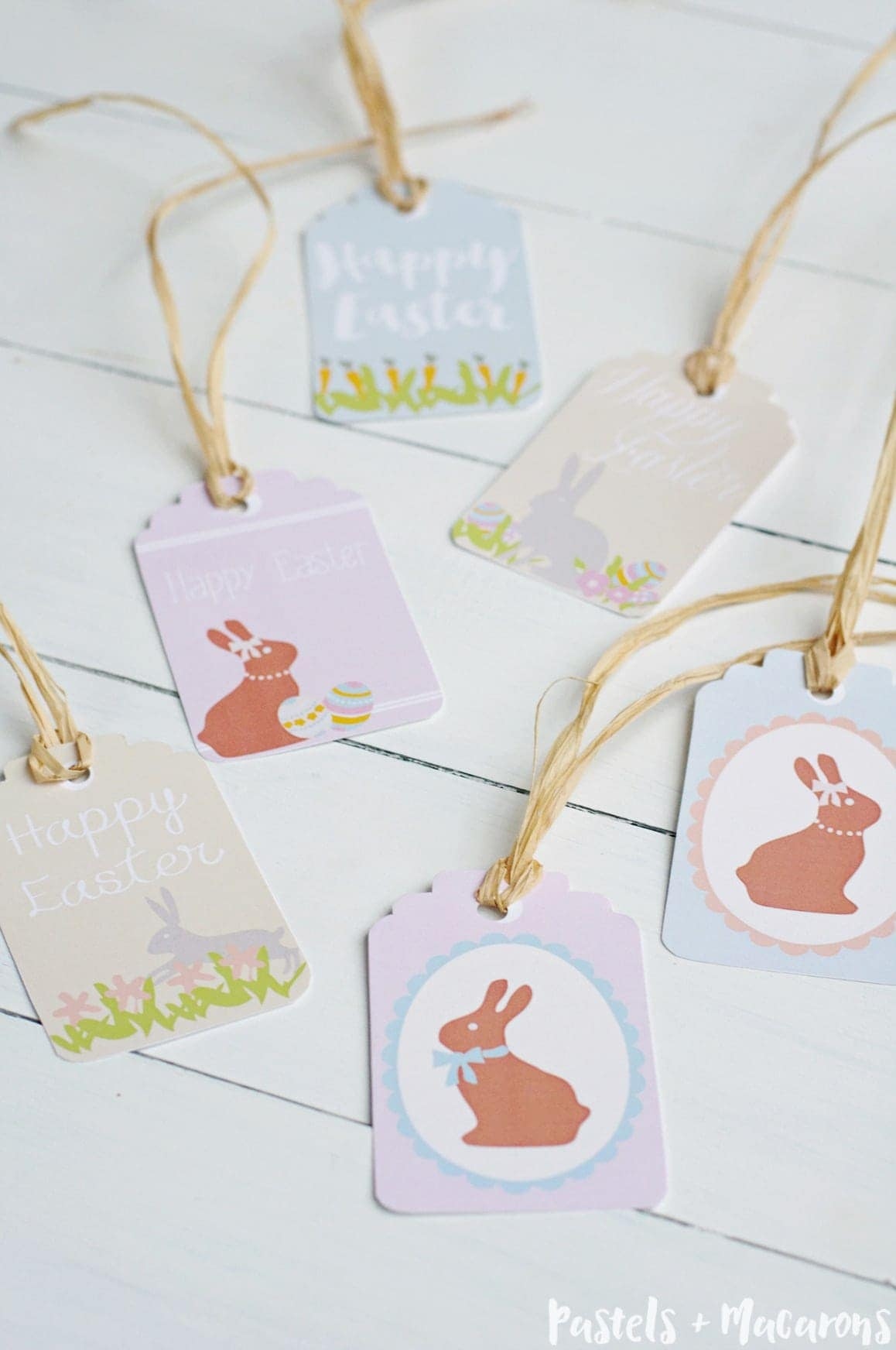 Download your Free Printable Easter Gift Tags for all your gifts this Easter. You get a six of 6 pastel colored tags!