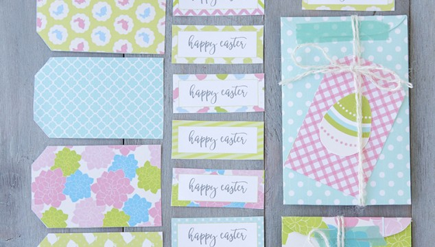 Spring or Easter Printable Banners, Tags and Envelopes
