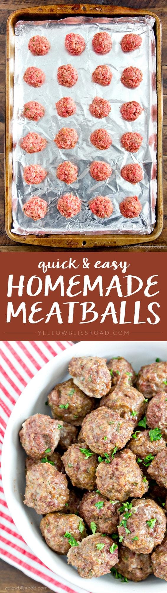 Easy Homemade Meatballs - How to make Homemade Meatballs - so easy!