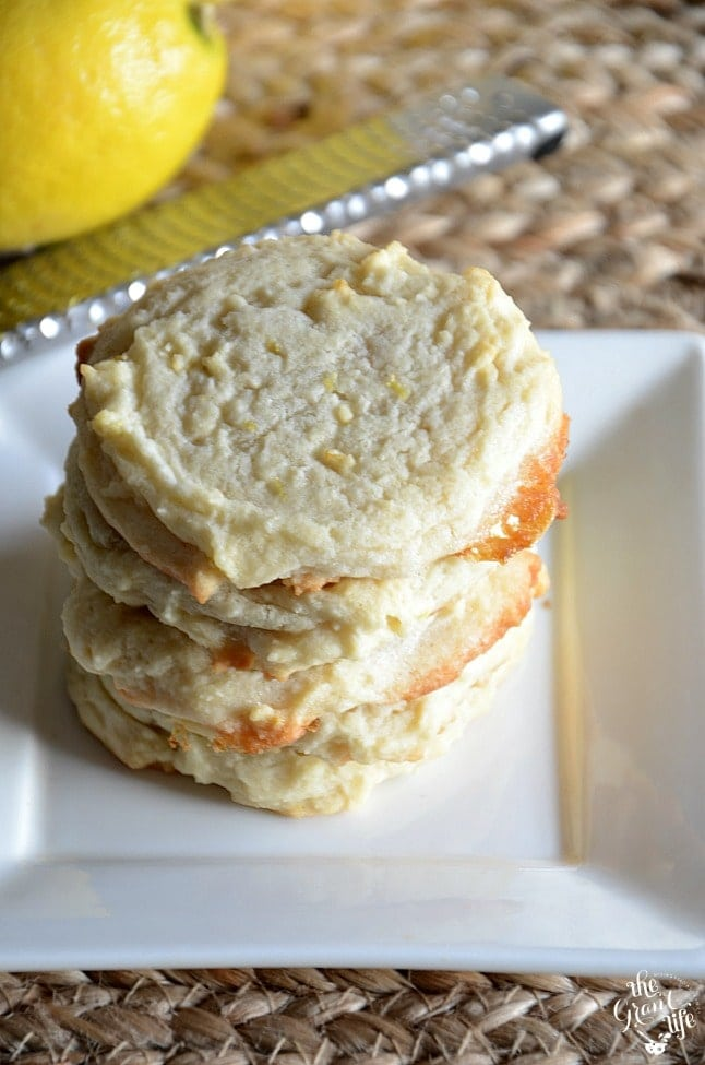 Lemon Sugar Cookies - Sweet and tart and perfect for spring!