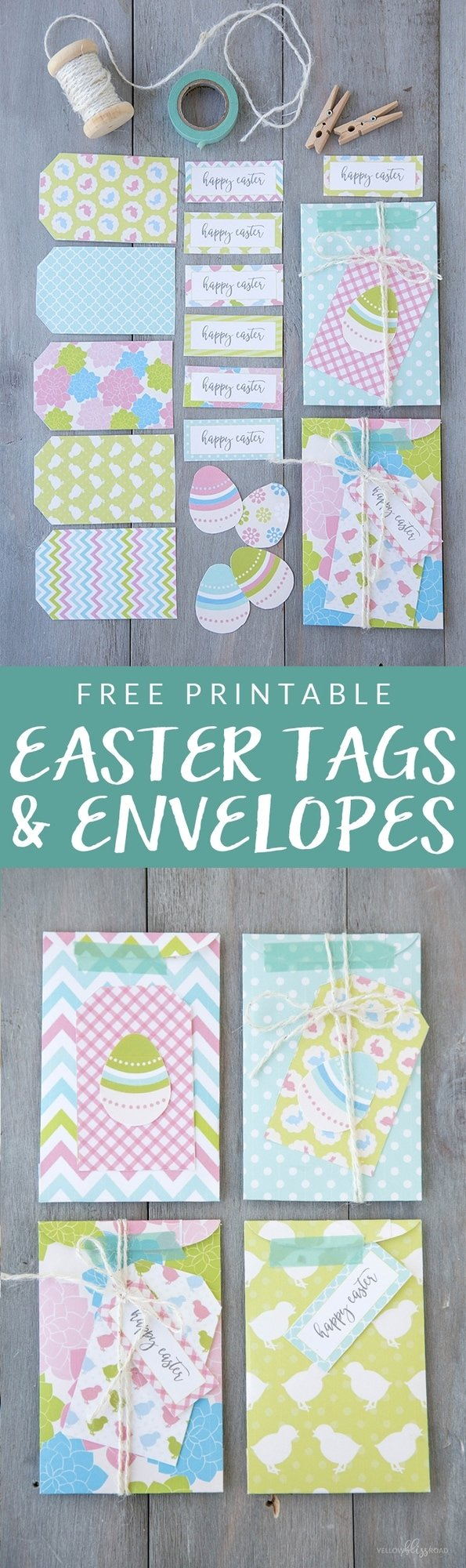 Free Printable Easter Tags, Labels and Envelopes