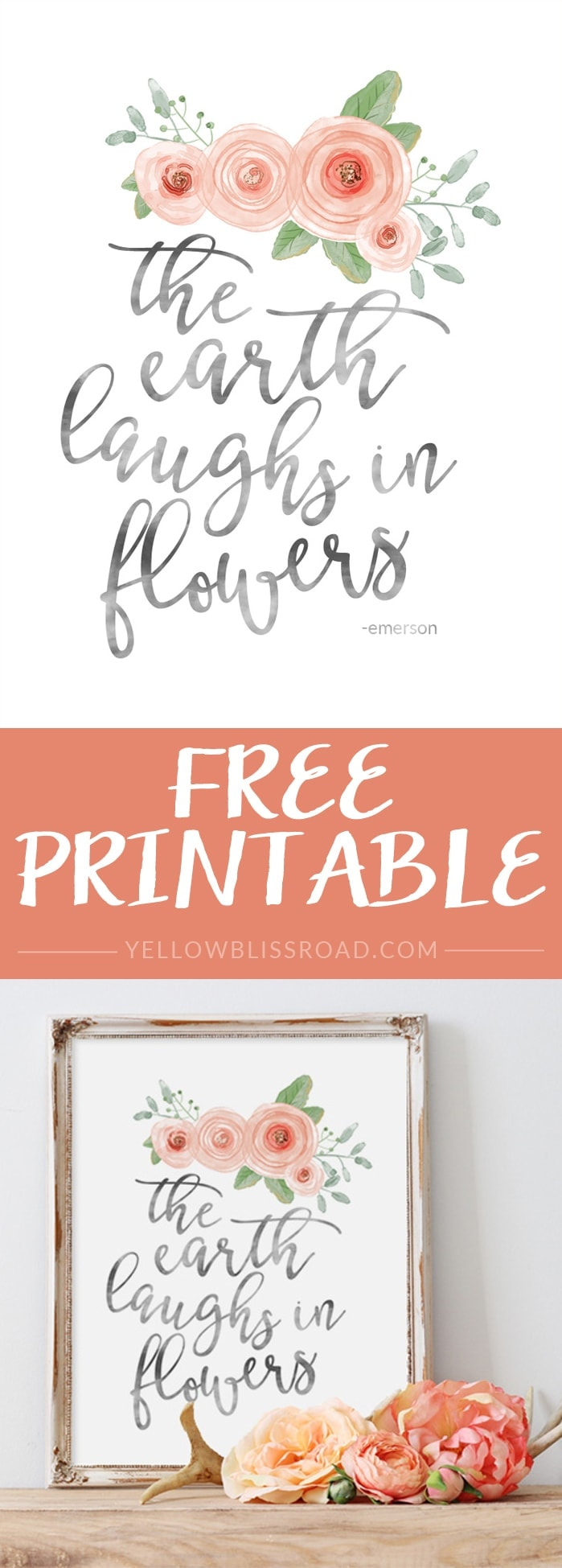 graphic about Spring Printable identified as Free of charge Spring Printable - Yellow Bliss Street