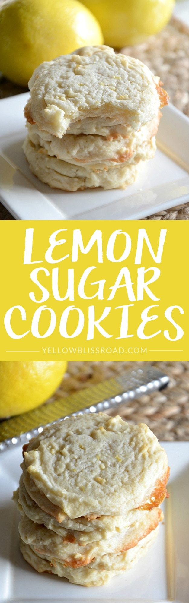 Lemon Sugar Cookie - Sweet and tart, and a delicious spring treat