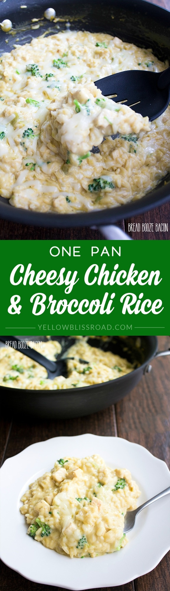 One Pan Cheesy Chicken Broccoli Rice