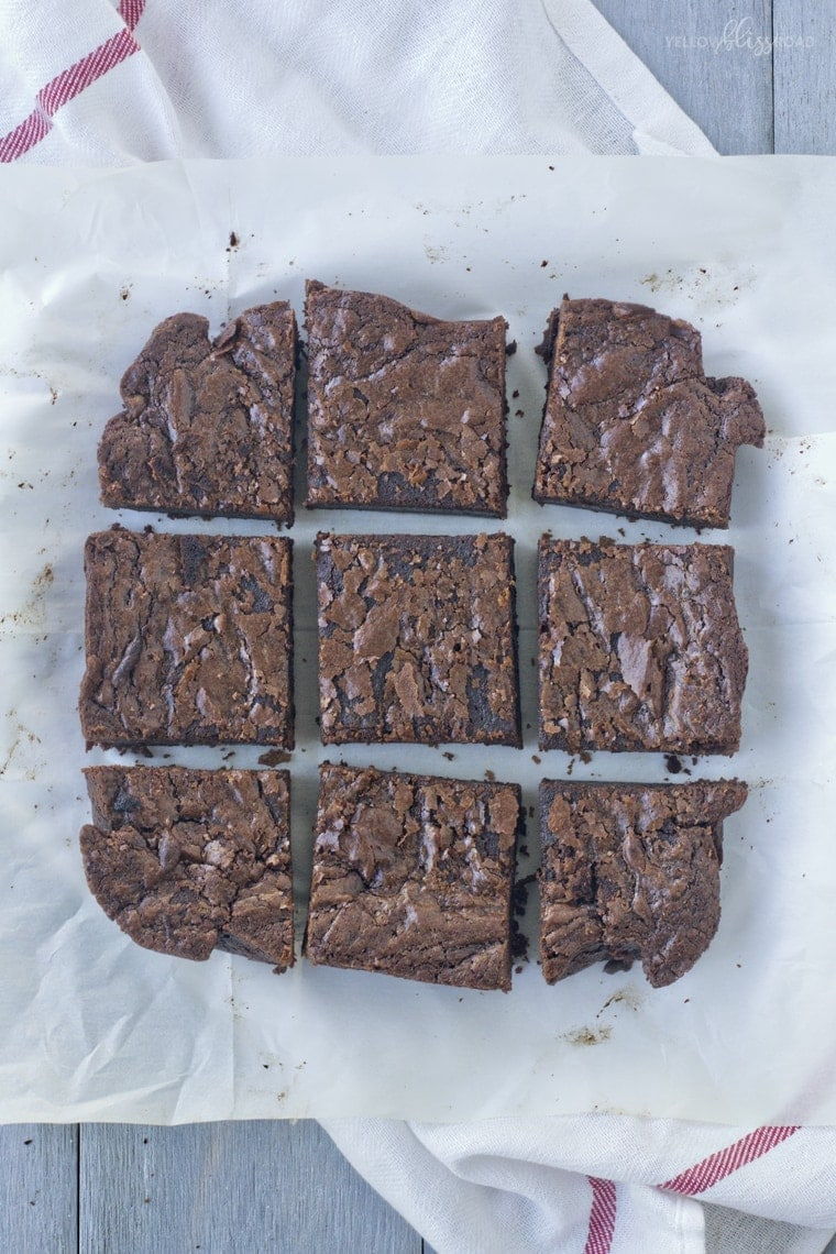 Sliced brownies