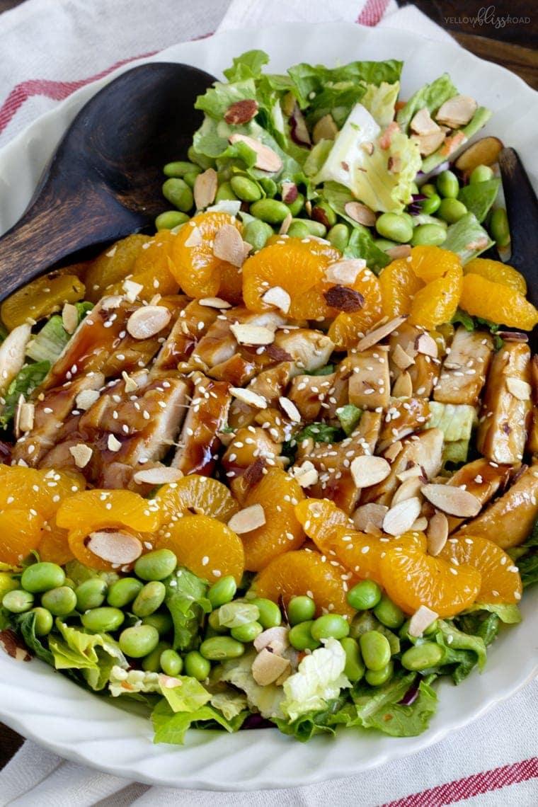 Teriyaki Chicken Salad with Honey Mustard Dressing