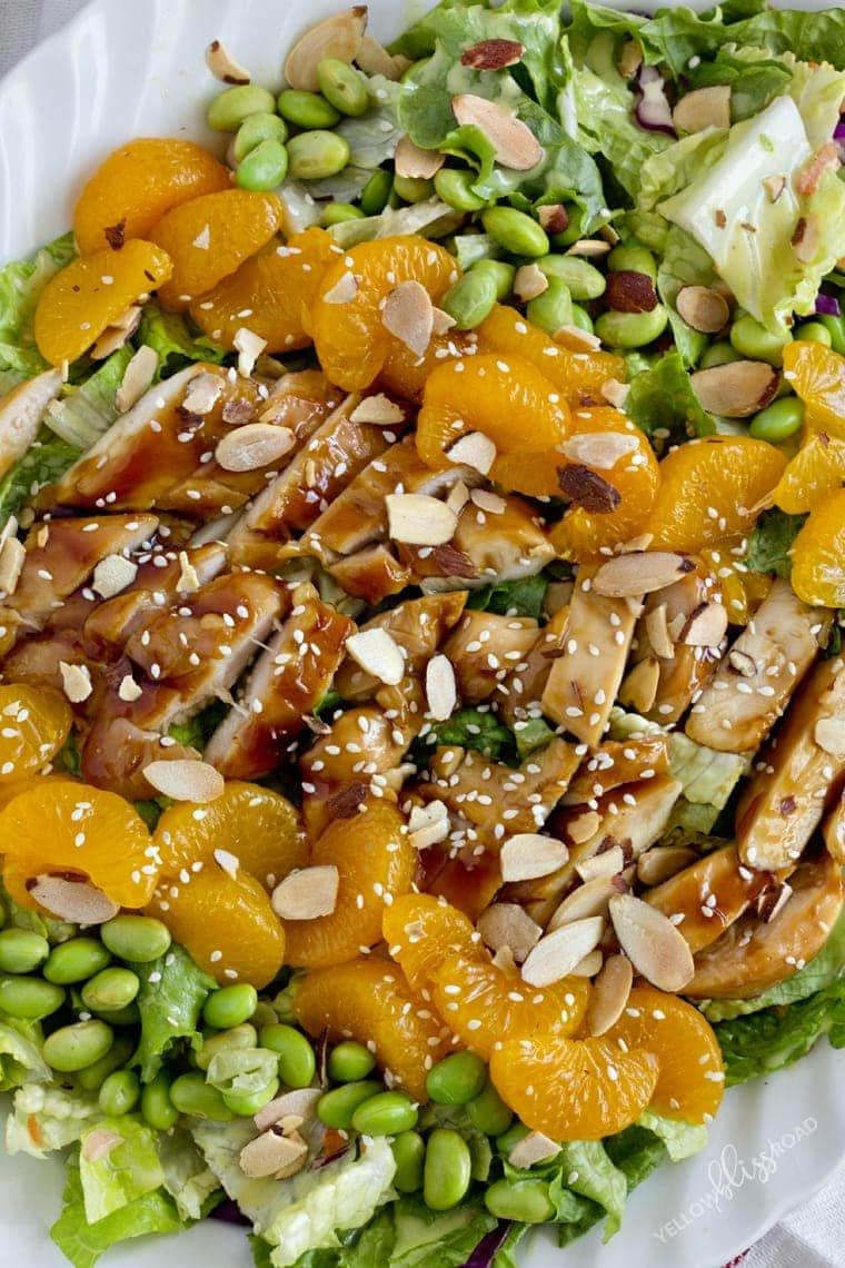 Teriyaki Chicken Salad with Honey Mustard