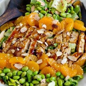 A plate of Teriyaki Chicken Salad