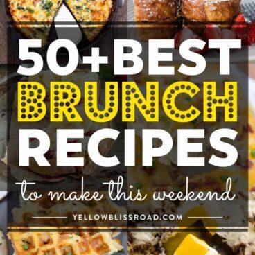 Social media image of 50+ best brunch recipes