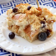 Creamy Blueberry French Toast Bake