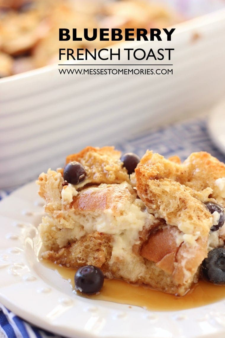 Blueberry and Lemon French Toast Bake