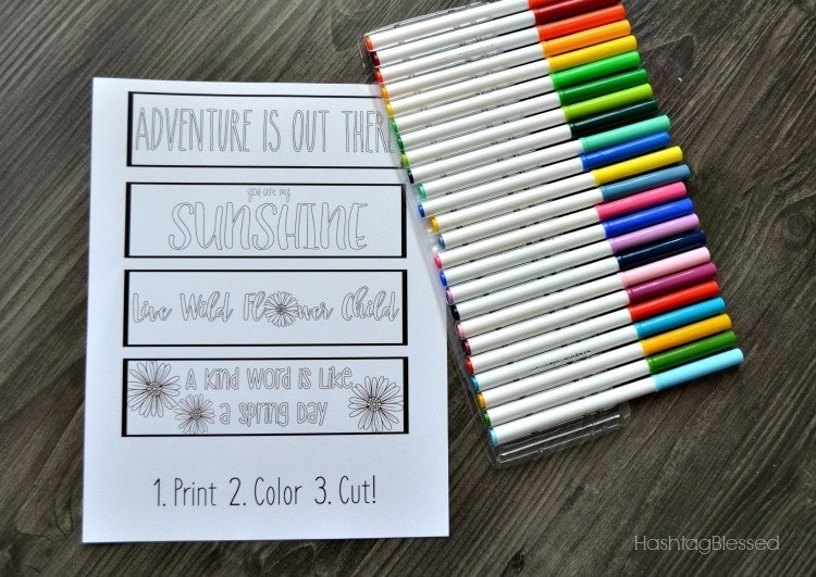 Printable Spring Bookmarks YOU Can Color